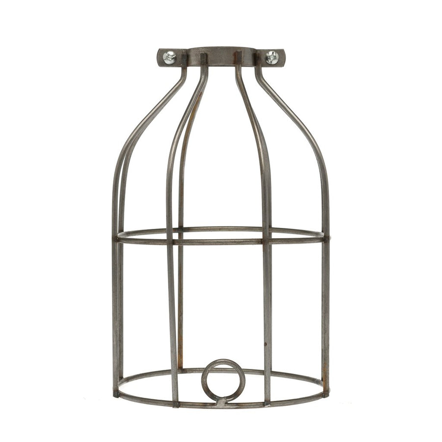 Industrial Light Bulb Cage - Black