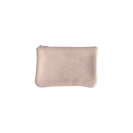 Small Flat Zip Pouch - Basic Nude