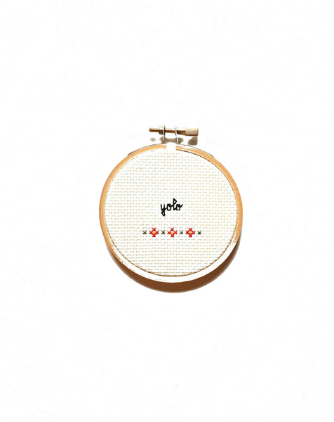 """YOLO"" Cross Stitch"