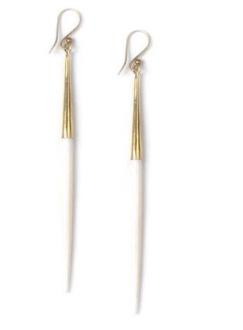 Capped Quill Dangle Earrings