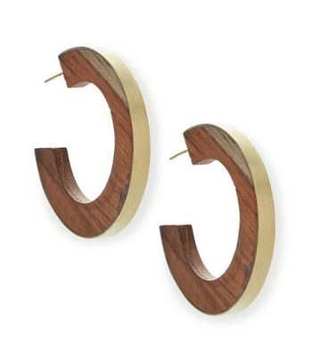 Gilded Paddle Hoop Earrings
