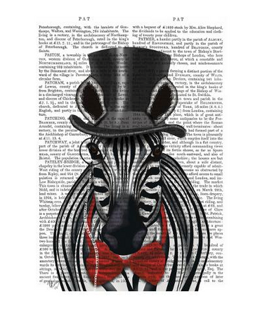 Zebra with Top Hat and Bow Tie 2