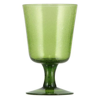 Apple Green Handmade Wine Glass