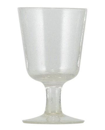 Pearl White Handmade Wine Glass