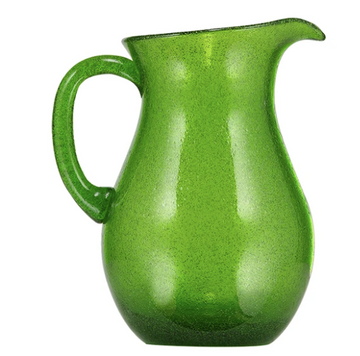 Quarts Apple Green Handmade Glass Jug