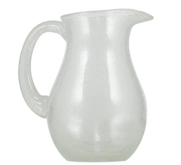 Quarts Pearl White Handmade Glass Jug
