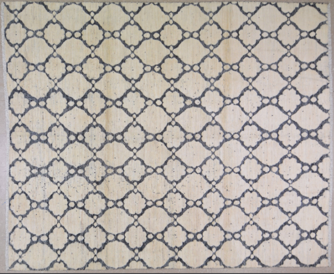 HANDMADE CONTEMPORARY RUG 8'1x9'10