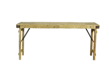 Medium Vintage Bleached Wood Wedding Table