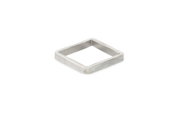 3MM WIDE SILVER SQUARE RING