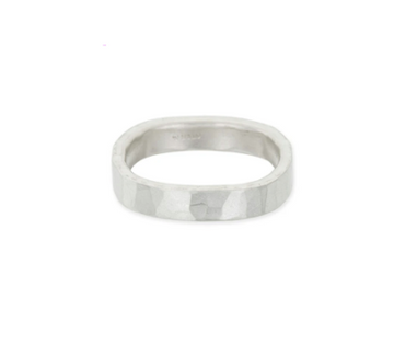 4MM WIDE SILVER ROUND RING