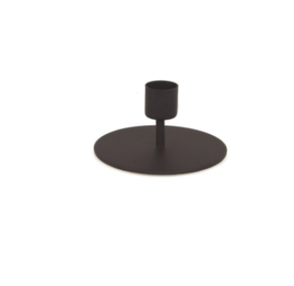 Black Taper Candle Holder, Short