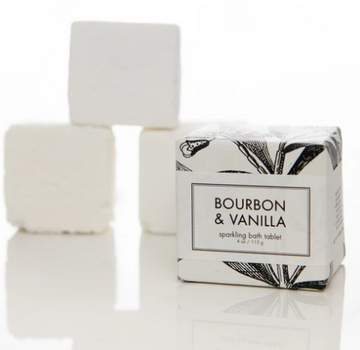 SPARKLING BATH TABLET - BOURBON & VANILLA