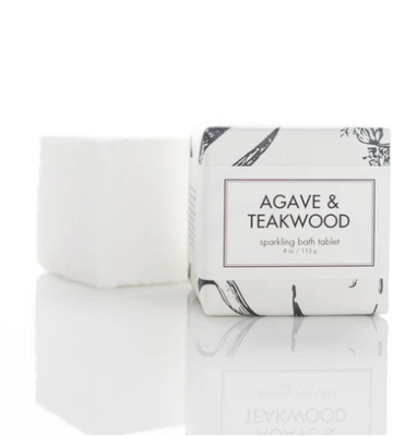 SPARKLING BATH TABLETS - AGAVE & TEAKWOOD