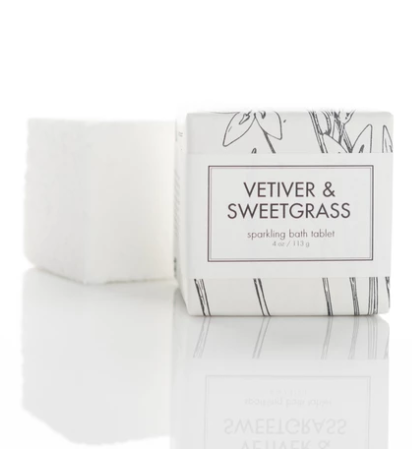 SPARKLING BATH TABLETS - VETIVER & SWEETGRASS