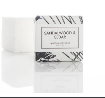 SPARKLING BATH TABLET - SANDALWOOD & CEDAR