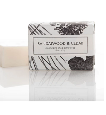 SHEA BUTTER SOAP - SANDALWOOD & CEDAR BATH BAR
