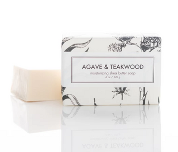 SHEA BUTTER SOAP - AGAVE & TEAKWOOD BATH BAR