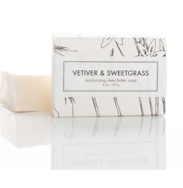 SHEA BUTTER SOAP - VETIVER & SWEETGRASS BATH BAR