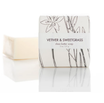 SHEA BUTTER SOAP - VETIVER & SWEETGRASS GUEST BAR