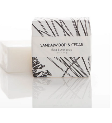 SHEA BUTTER SOAP - SANDALWOOD & CEDAR GUEST BAR