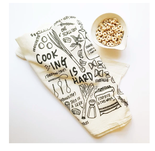 Cooking Is Hard Tea Towel