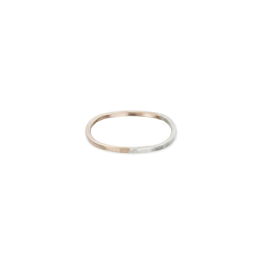 Thin Rose Gold & Silver Round Ring