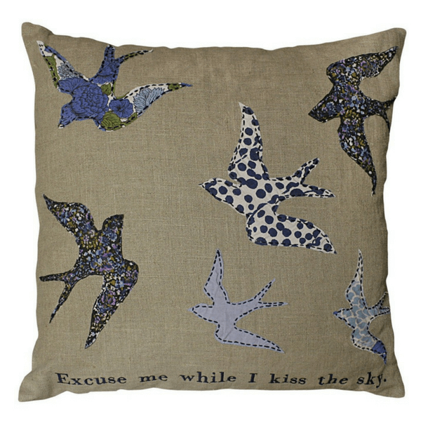 """Kiss The Sky"" - Sugarboo Pillow Collection 24 x 24"