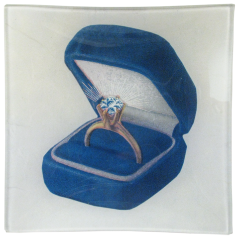 "Ring in a Box Un Vide Poche (6"" Square)"