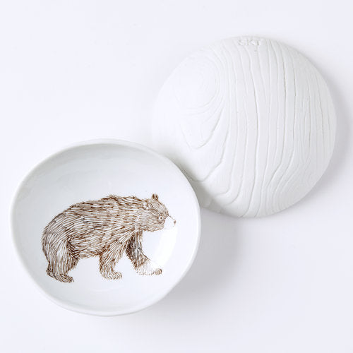 Bear Woodgrain Dish