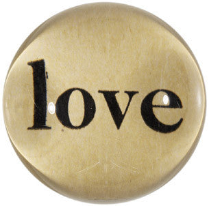Love,  Dome Paperweight