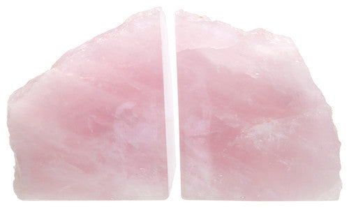 Rose Quartz Bookends (Pair)