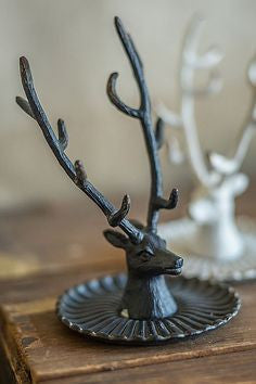 Pewter Buck / Stag Jewelry Holder