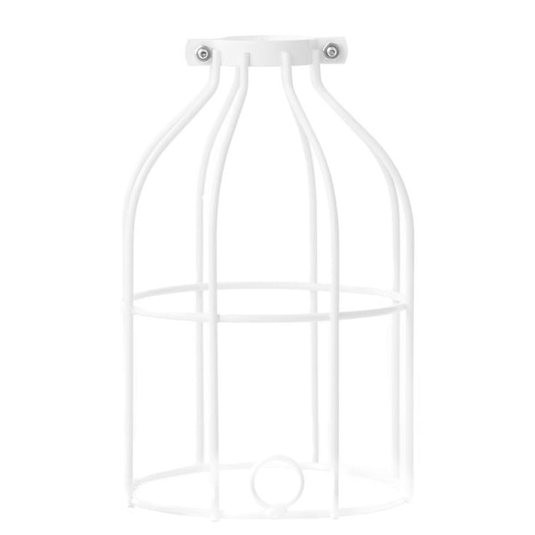 Industrial Light Bulb Cage - White