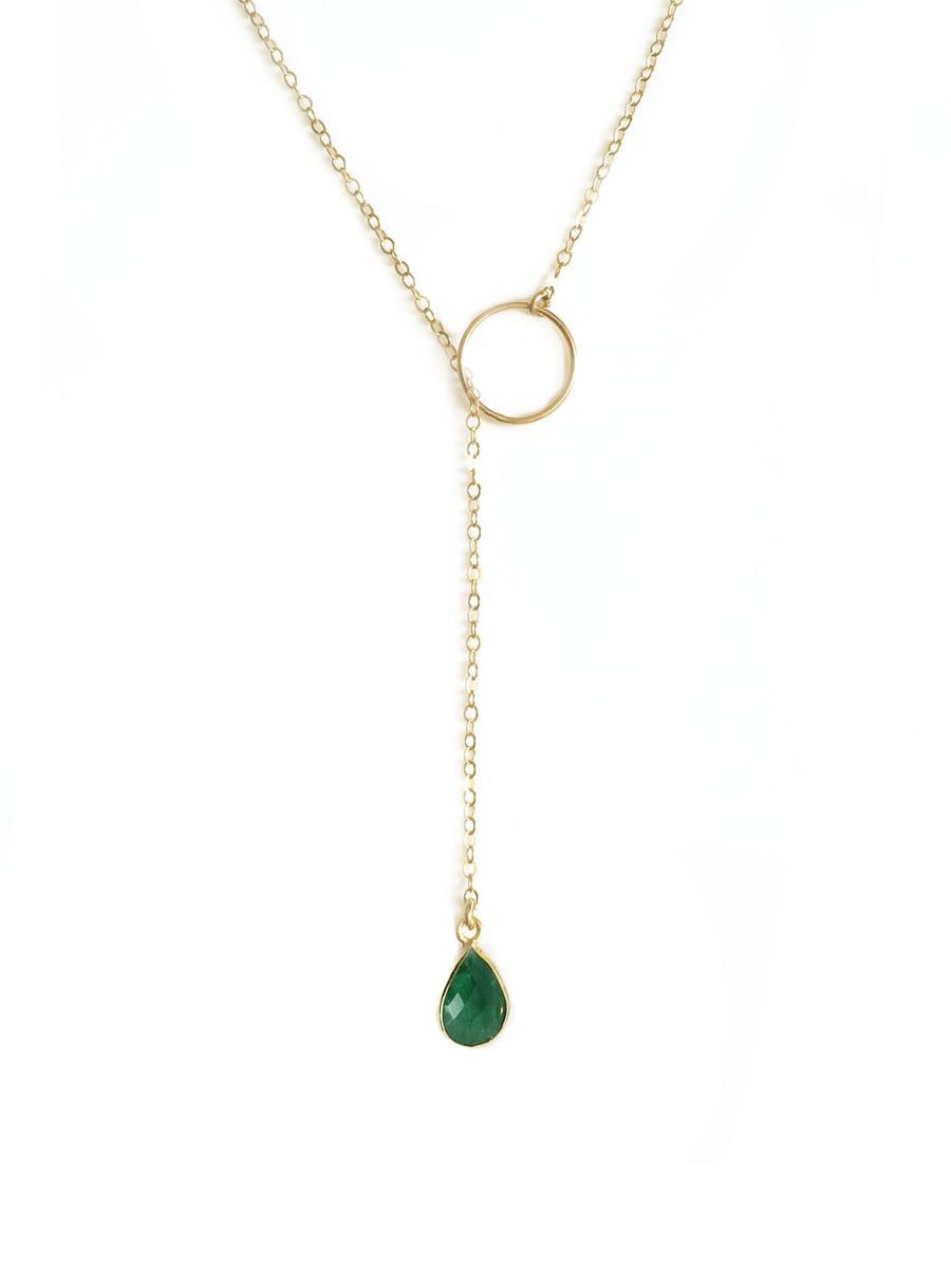 Emerald Adjustable Lariat