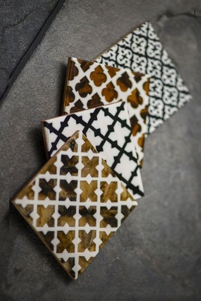 Set of Four Moroccan Style Coasters