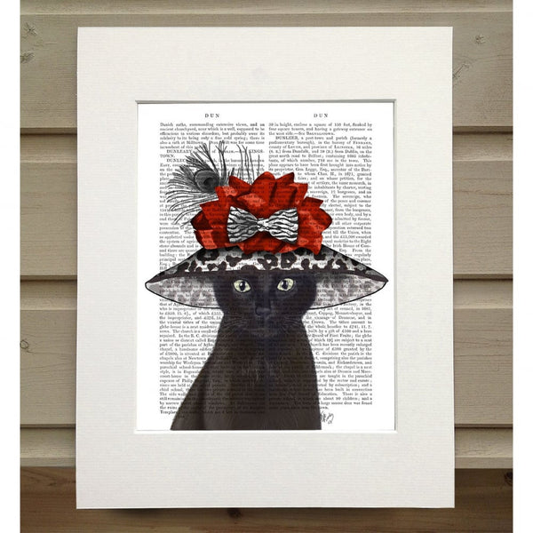 Black Cat with Fabulous Hat Book Print