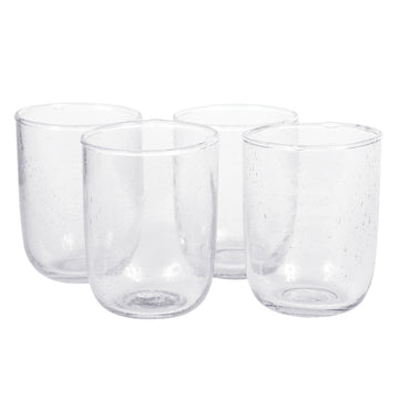 Short Seeded Glasses - Clear