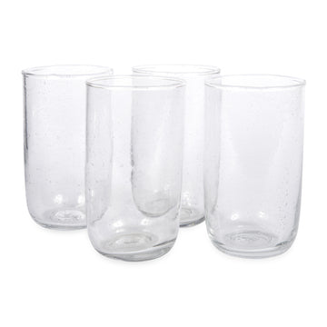 Tall Seeded Glasses -Clear