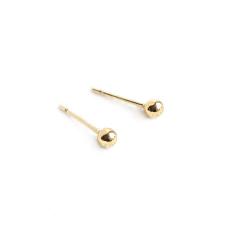 14k Gold Ball Studs - Medium