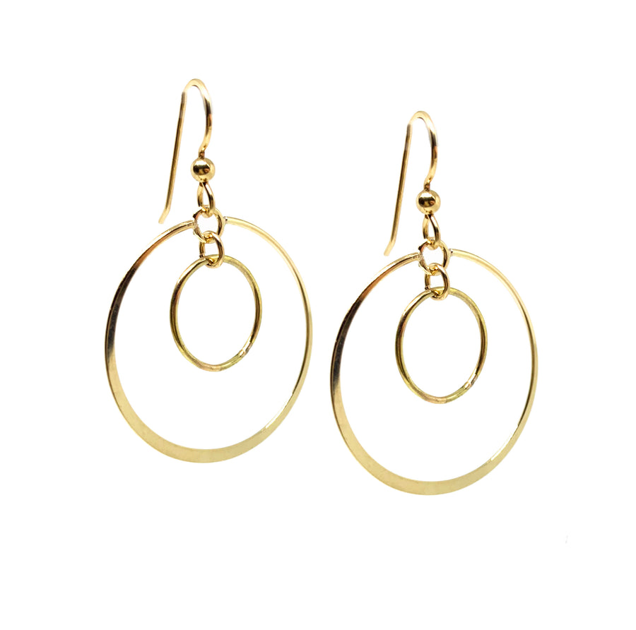 Large Double Circle Earrings