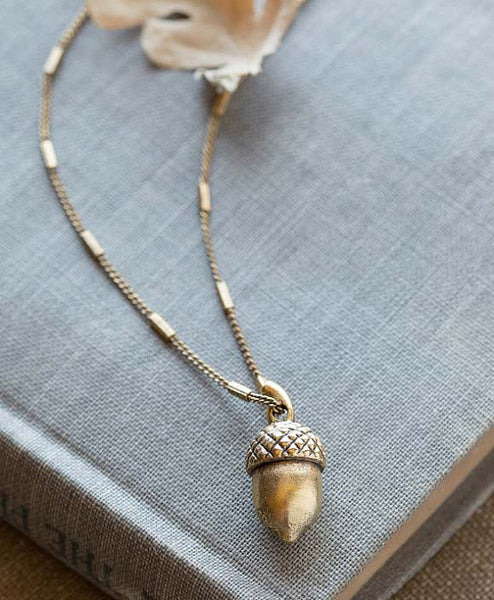 Tiny Acorn Necklace