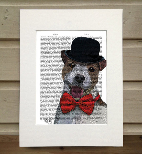 Jack Russell, Union Jack Book Print