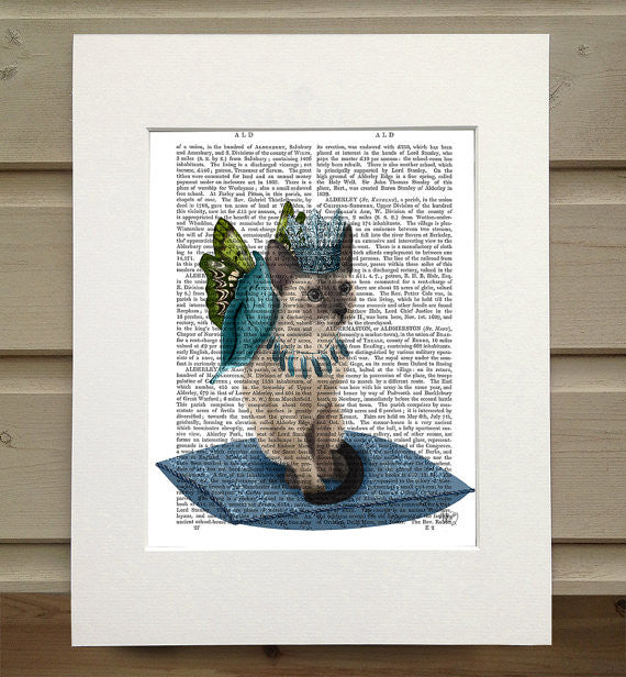 Cat with Butterfly Wings Book Print