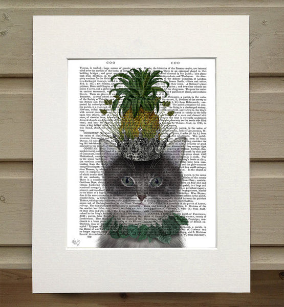 Cat Pineapple Puss Book Print