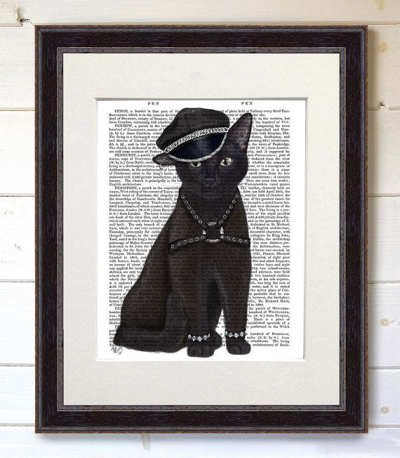 Dominatrix Cat Book Print