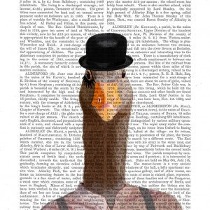Clockwork Orange Goose Book Print