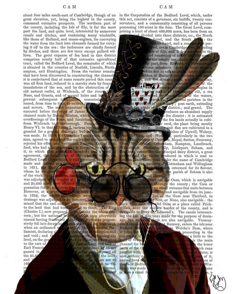 Phileas Feline, Steampunk Style Cat with Top Hat, Book Print