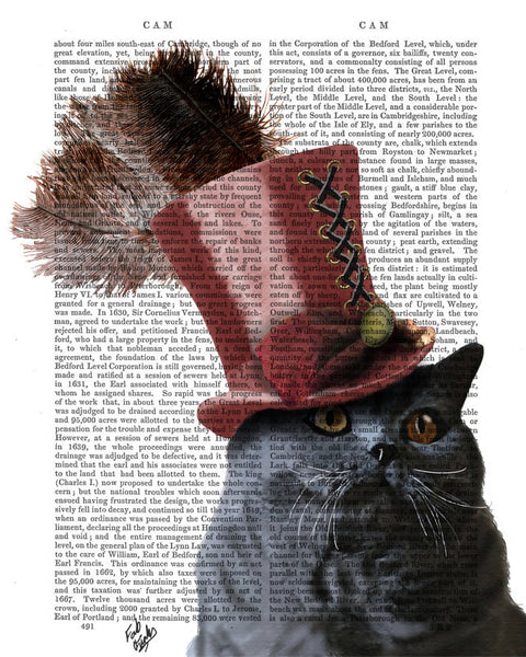 Grey Cat with Steampunk Top Hat Book Print