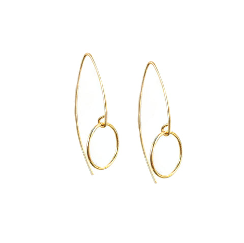 Marquise Circle Earrings