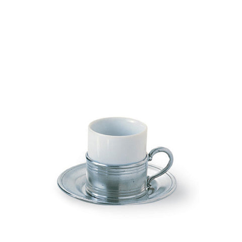 Espresso Cup with Pewter Saucer
